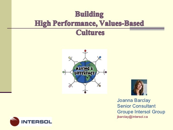 Building high performance cultures