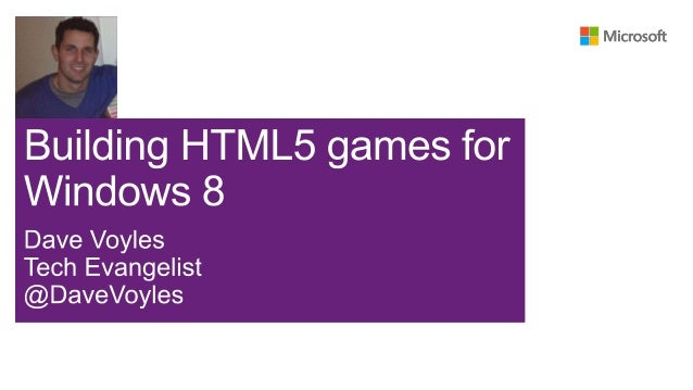 Building HTML5 games for windows 8