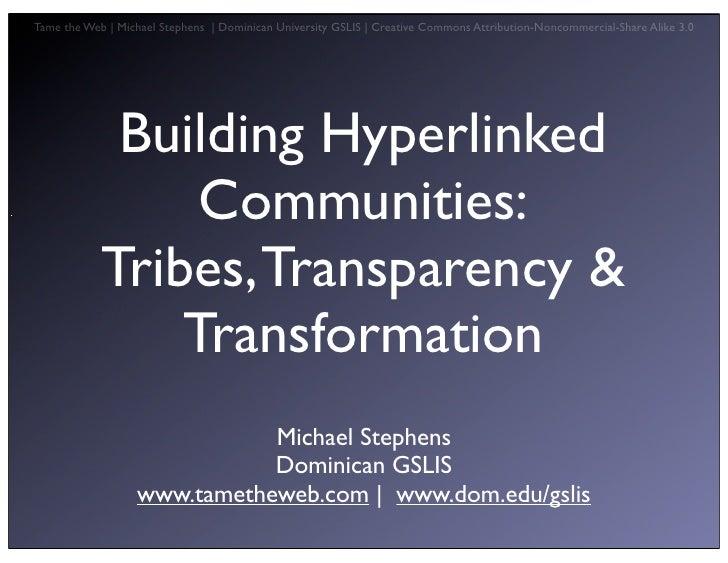 Building Hyperlinked Communities Vbpl