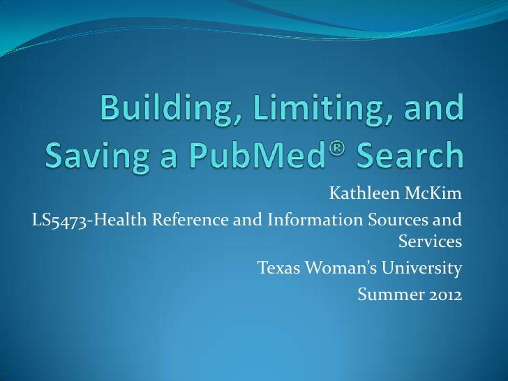 Building, Limiting and Saving a PubMed Search for Osteoporosis Research