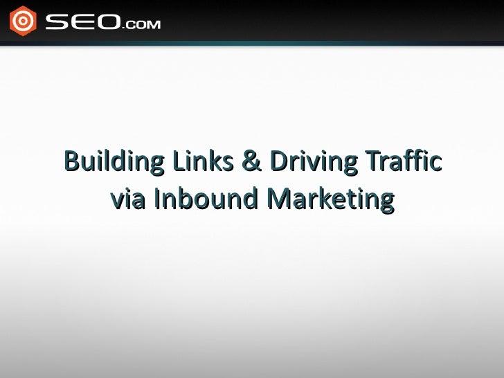 Building Links from Inbound Marketing