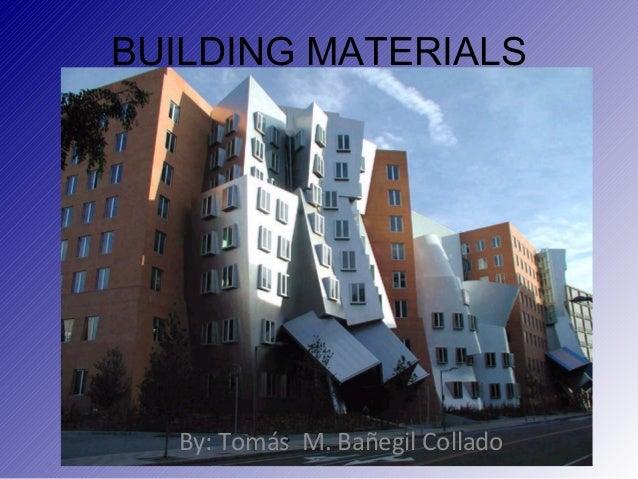 Building Materials (1ª parte)