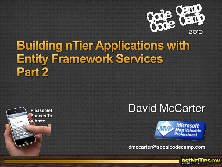 Building nTier Applications with Entity Framework Services (Part 2)