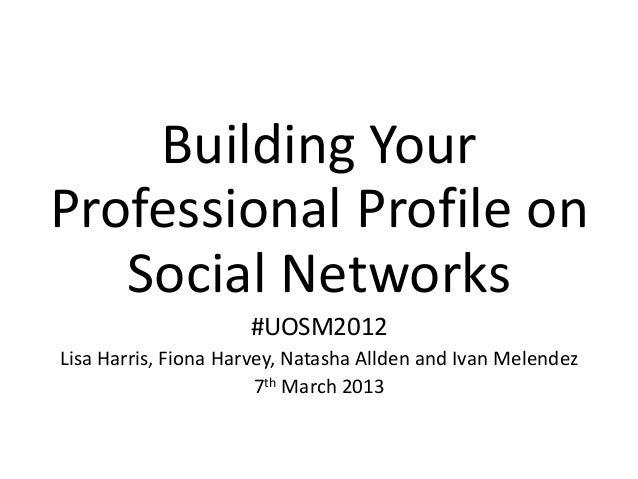 Building online professional profile