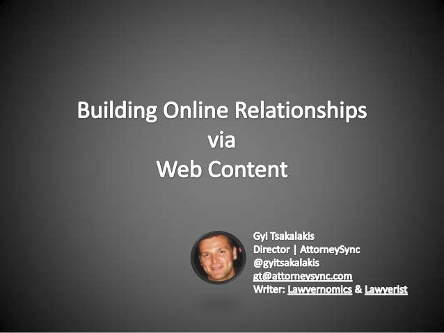 Building online relationships