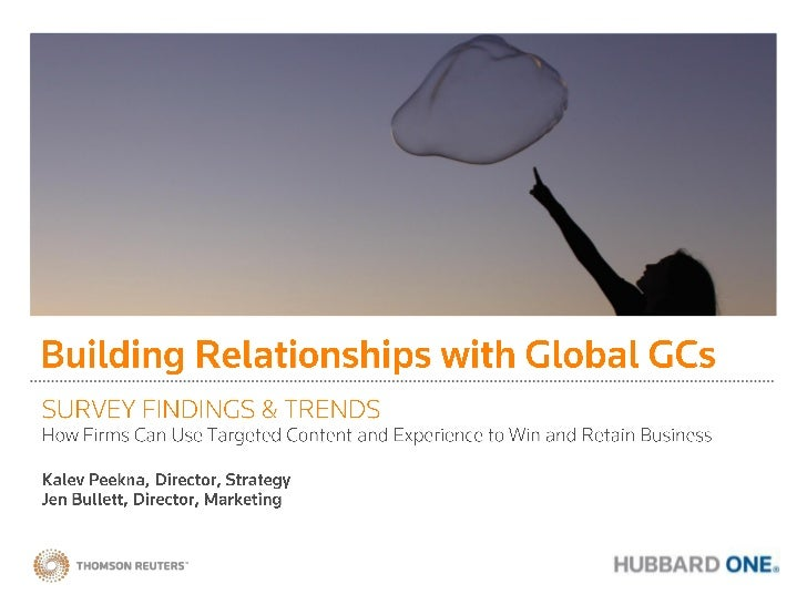 Building Relationships with Global General Counsel