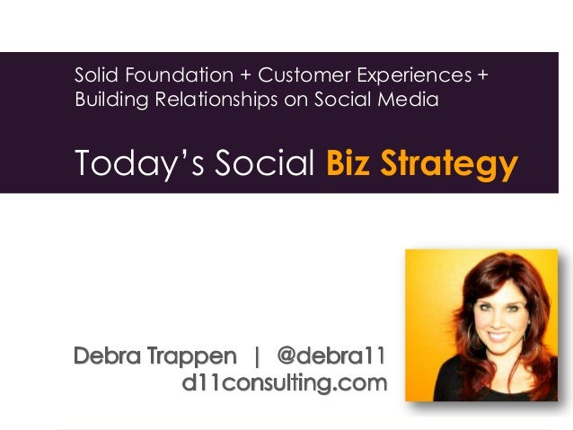 Solid Foundation + Customer Experiences + Building Relationships on Social Media Today's Social Biz Strategy