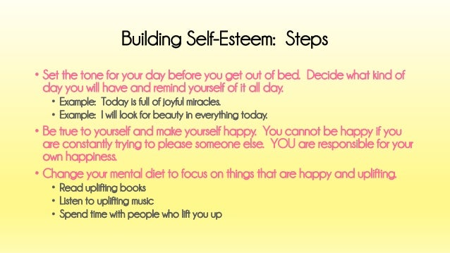 A Life without Anorexia: Having low self esteem