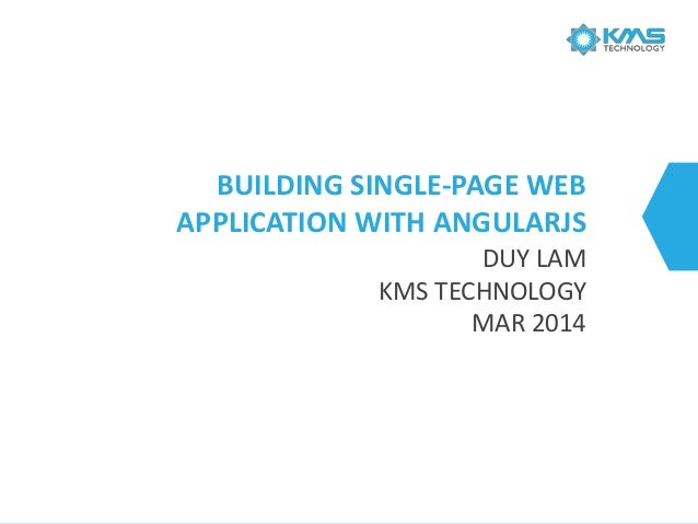 Building Single-page Web Applications with AngularJS
