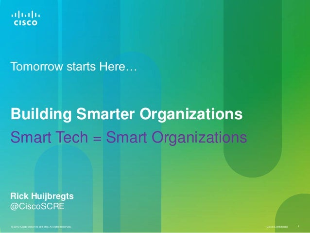 Smart Tech = Smart Organizations : Building Smarter Organizations