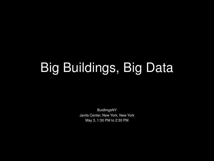 Big Data Energy Management for Big Buildings