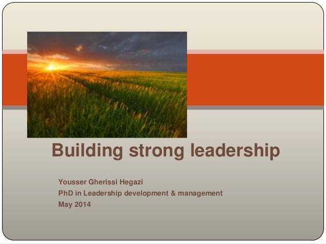Building strong leadership