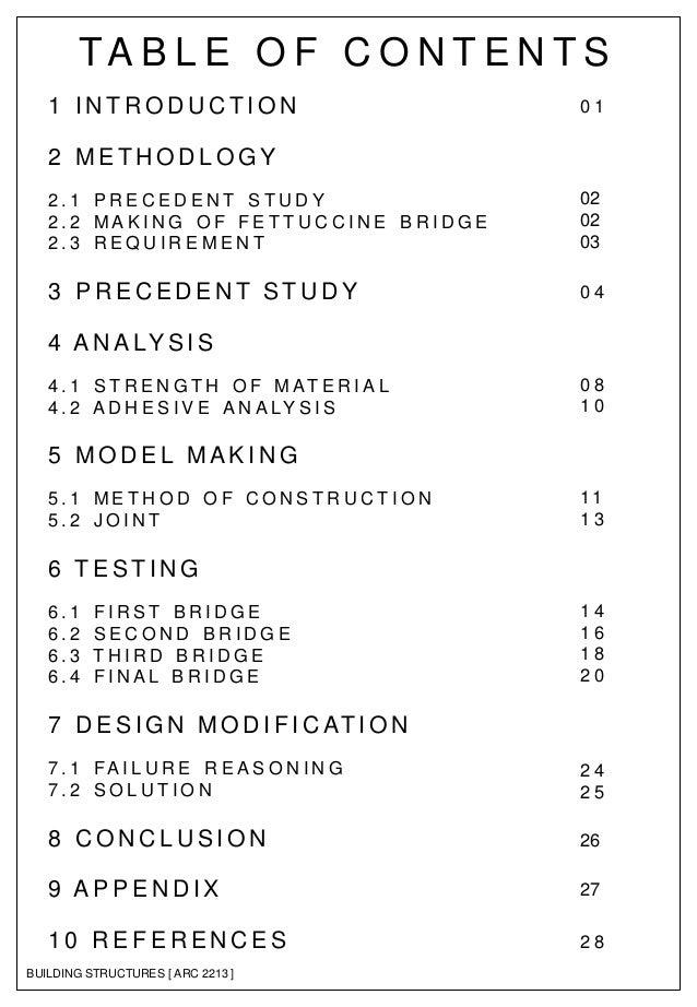 Dissertation report structure