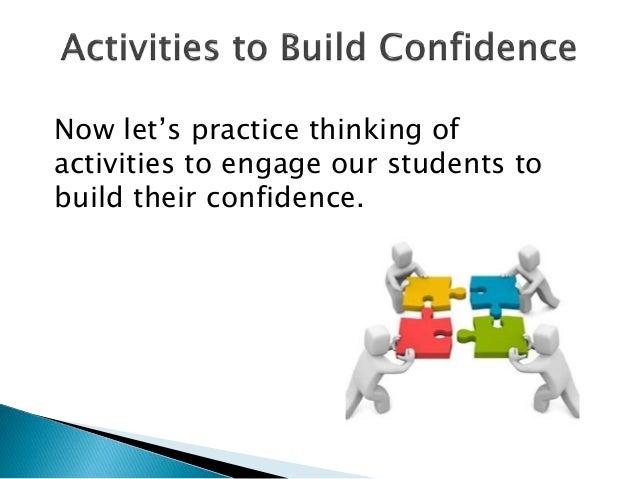 self esteem building activities for students