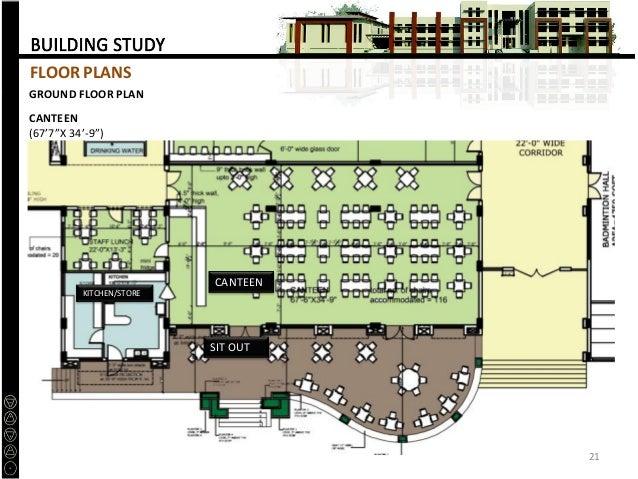 """Canteen Design Plan Floor Plan Canteen 67'7""""x"""