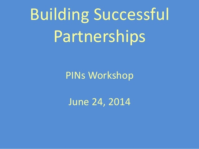 Building successful partnerships june 2014 v2