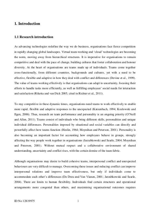 Dissertation scientific