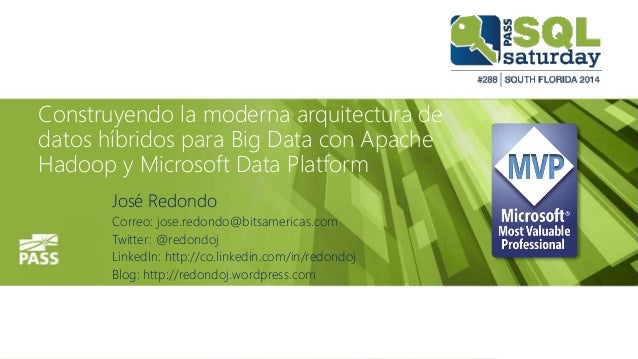 Building The Modern Architecture of Hybrid Data for Big Data with Microsoft Data Platform and Apache Hadoop