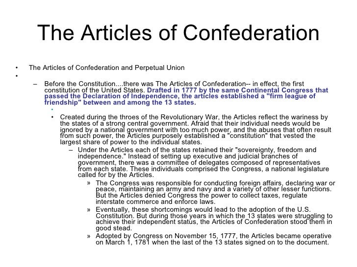 democracy and the creation of the articles of confederation As a result the articles of confederation were drafted and passed by the congress in november this first national constitution for the united states was not particularly innovative, and mostly put into written form how the congress had operated since 1775.