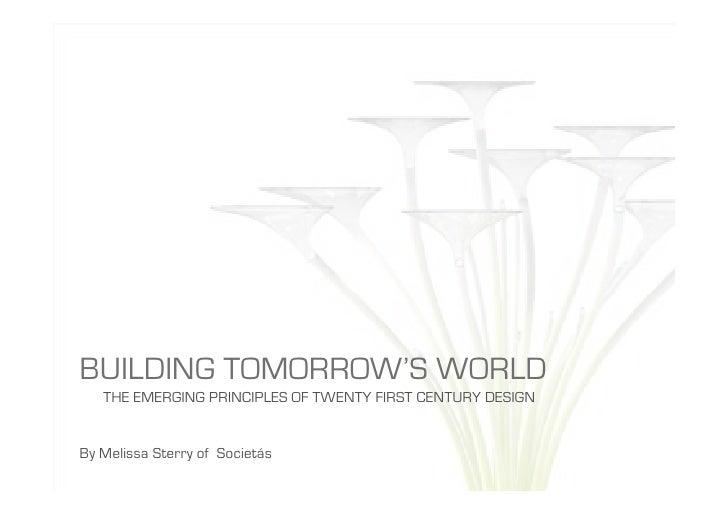 Building Tomorrows World 2009
