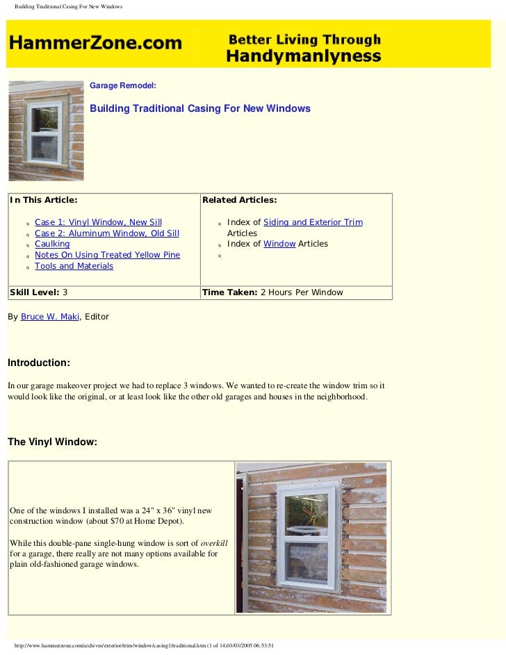 Building traditional casing for new windows