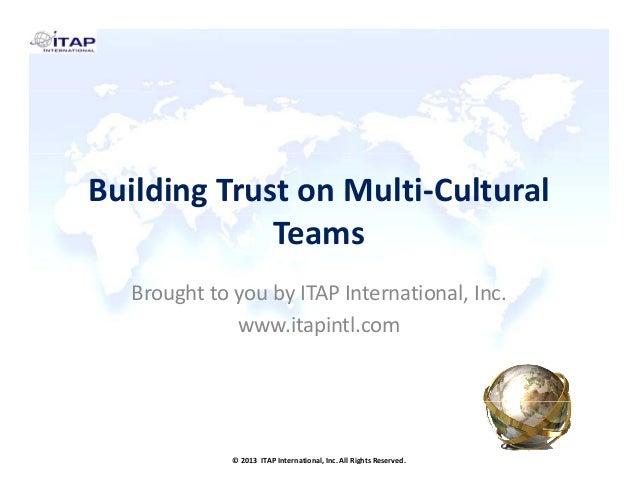 Building Trust on Multi-Cultural Teams