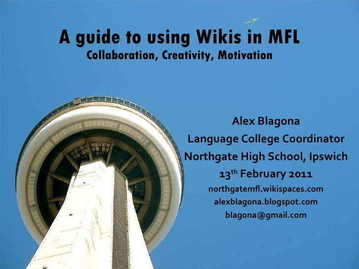 Building wikis 2011   ililc