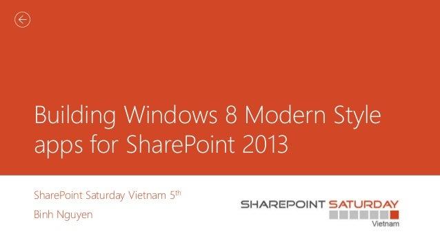 Building windows8 modern app for sp2013