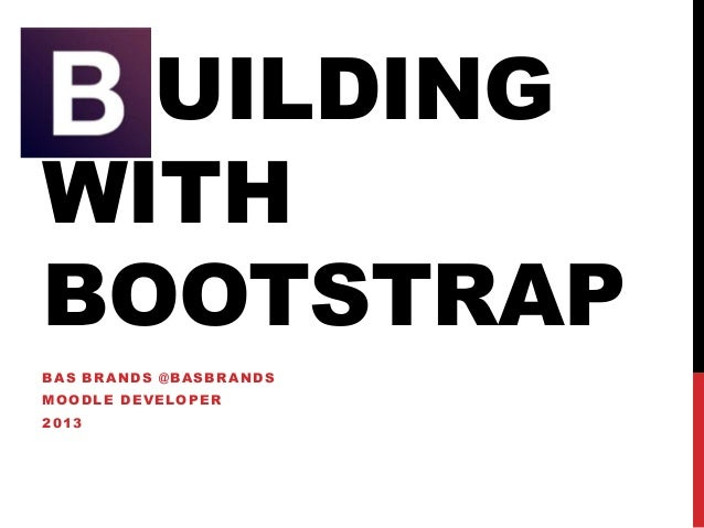 Building a Moodle theme with bootstrap