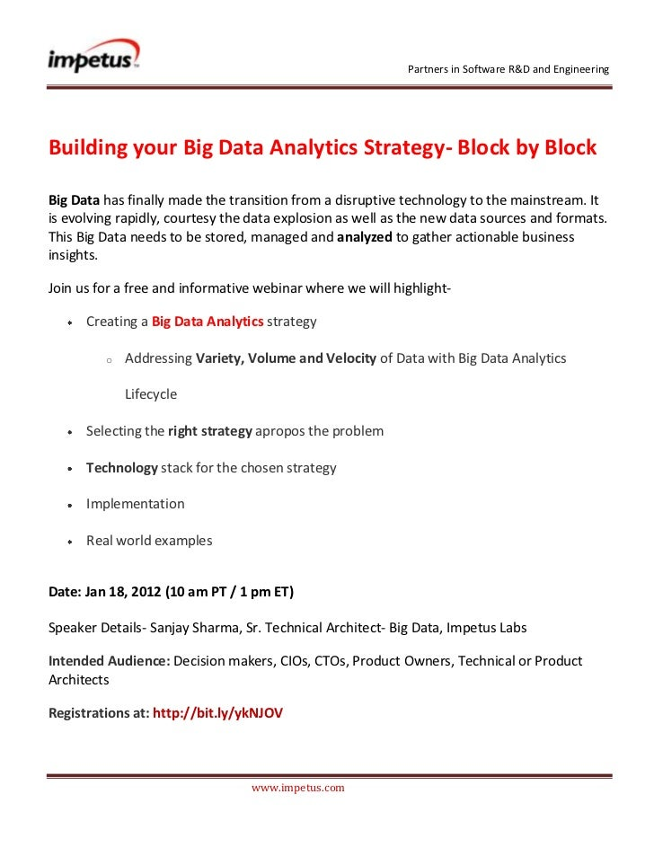 Partners in Software R&D and EngineeringBuilding your Big Data Analytics Strategy- Block by BlockBig Data has finally made...