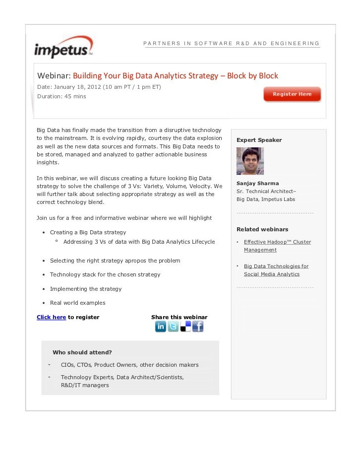 PARTNERS IN SOFTWARE R&D AND ENGINEERINGWebinar: Building Your Big Data Analytics Strategy – Block by BlockDate: January 1...