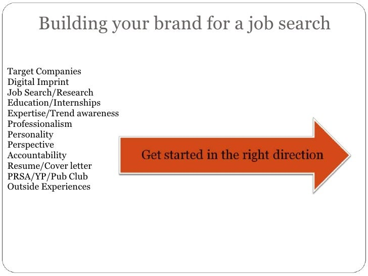Building your brand for a job search<br />Target Companies<br />Digital Imprint<br />Job Search/Research<br />Education/In...