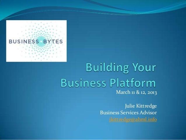 Building your business platform