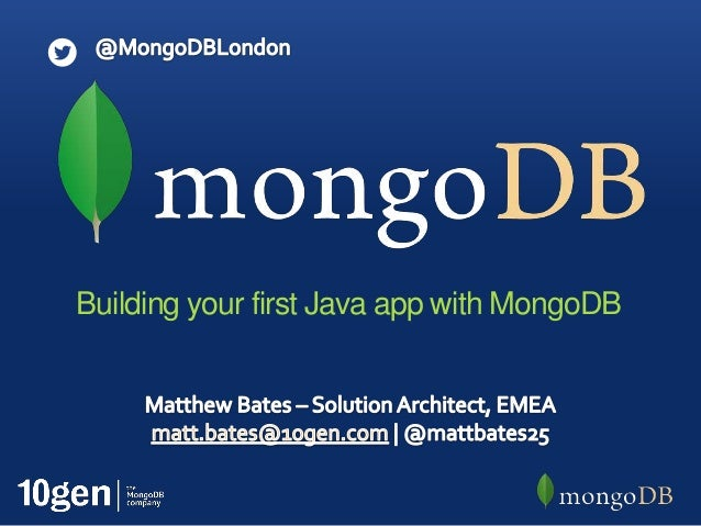 Building your first Java app with MongoDB