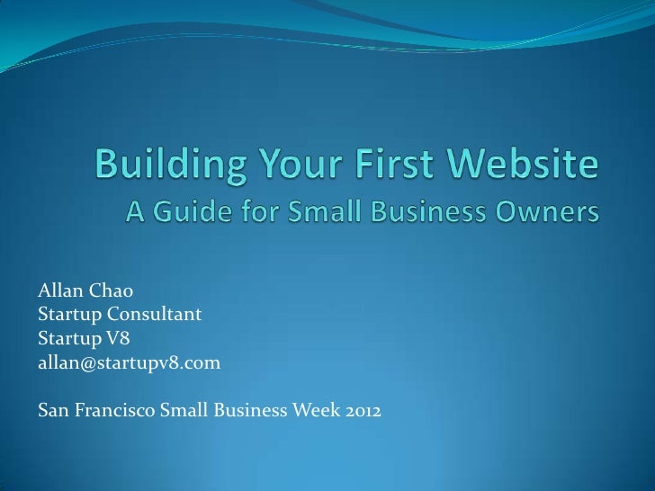 Building your first website – a guide for small business owners