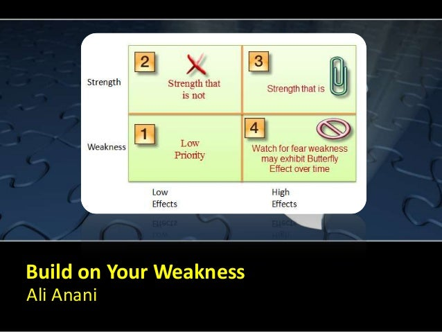 Build on your weakness