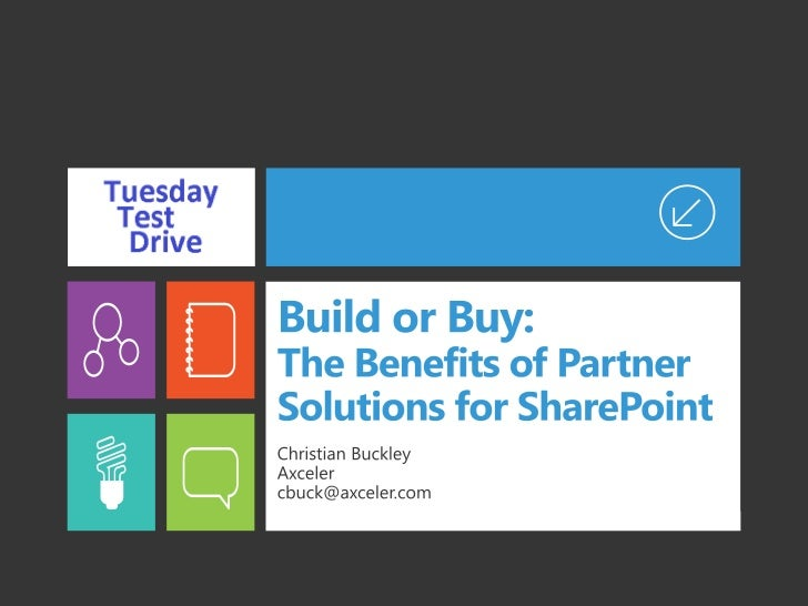 Build or Buy: The Benefits of Partner Solutions for SharePoint