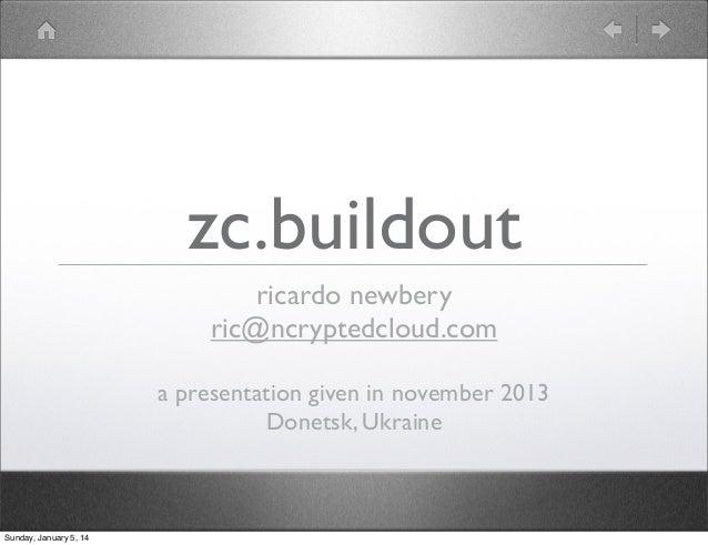 Introduction to zc.buildout