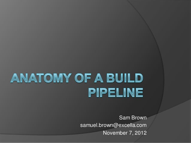 Anatomy of a Build Pipeline