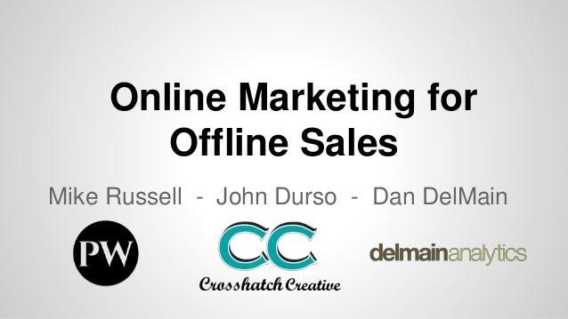 Online Marketing for Offline Sales Mike Russell - John Durso - Dan DelMain