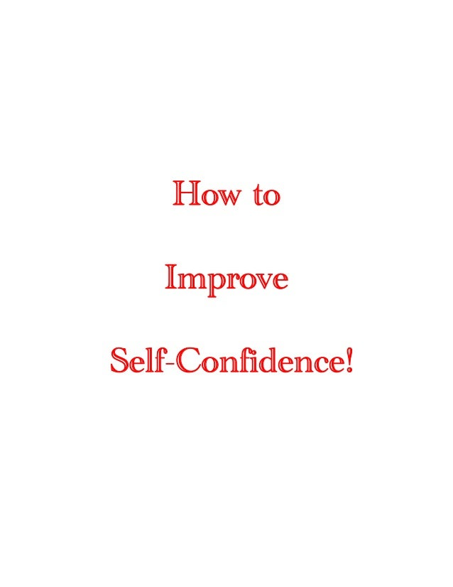 Build self confidence [shared by mr. waqas saddique]