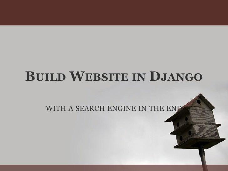 Build website in_django