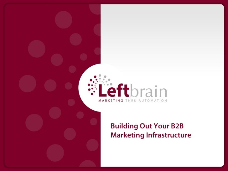 Building Out Your B2BMarketing Infrastructure