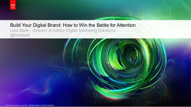Presentación Loni Stark, Director of Product & Industry Marketing, Adobe