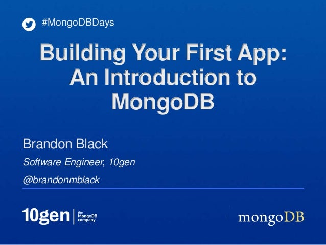 Building Your First App: An Introduction to MongoDB