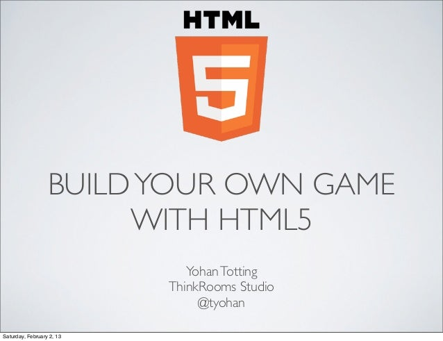 Build your own game with html5