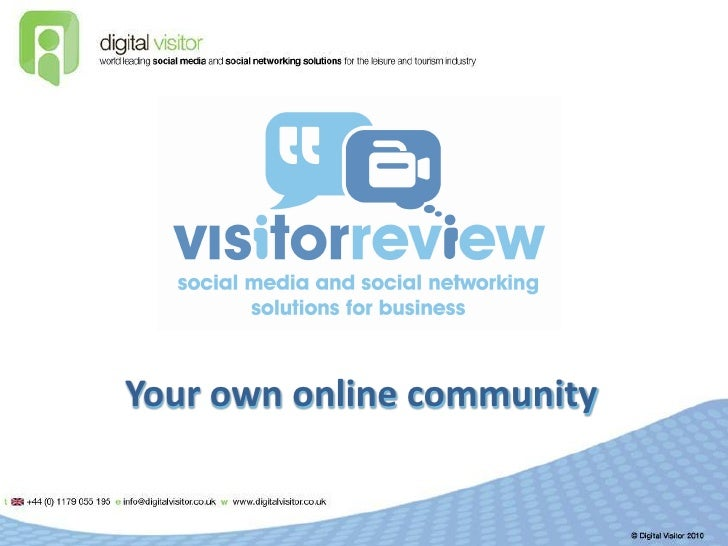 Build your own online community with Visitor Review