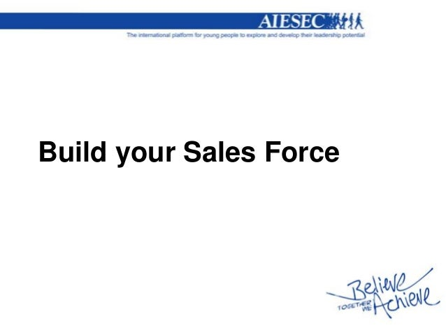 Build your sales force