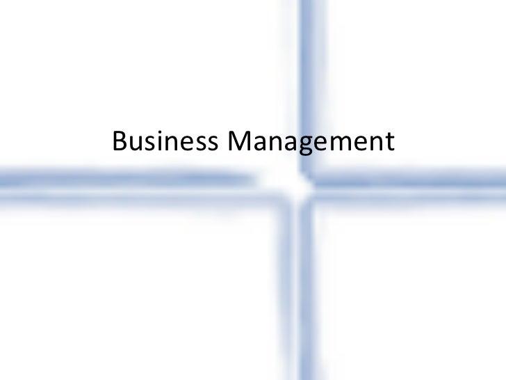 Buisness management