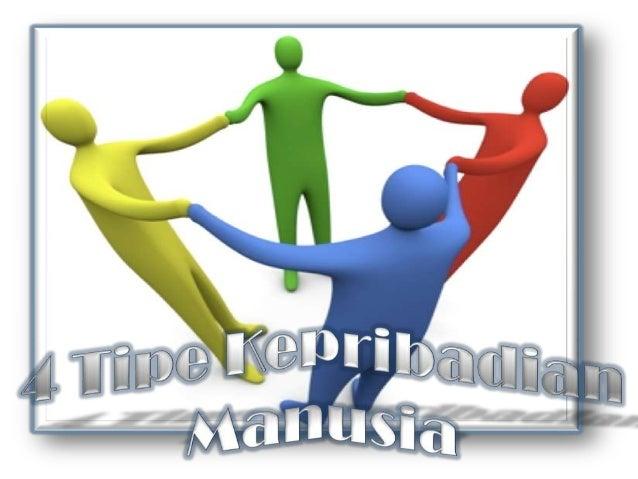 4 Tipe Kepribadian Manusia